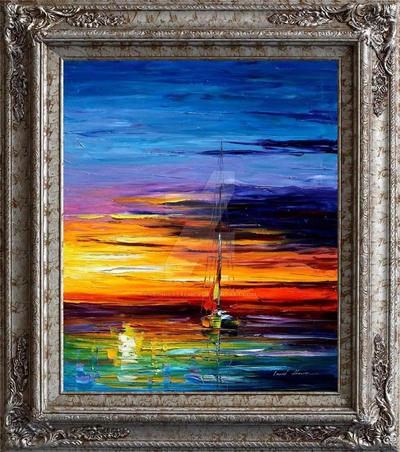 Sunrise framed painting by Leonid Afremov