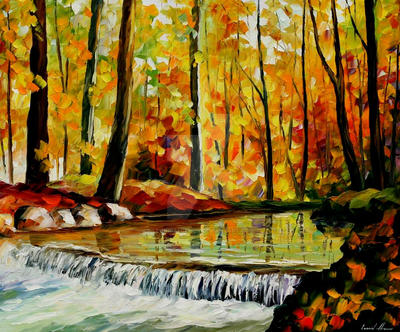 Forest stream by Leonid Afremov