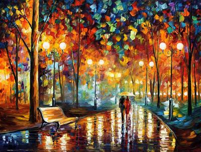 Rain rustle by Leonid Afremov by Leonidafremov