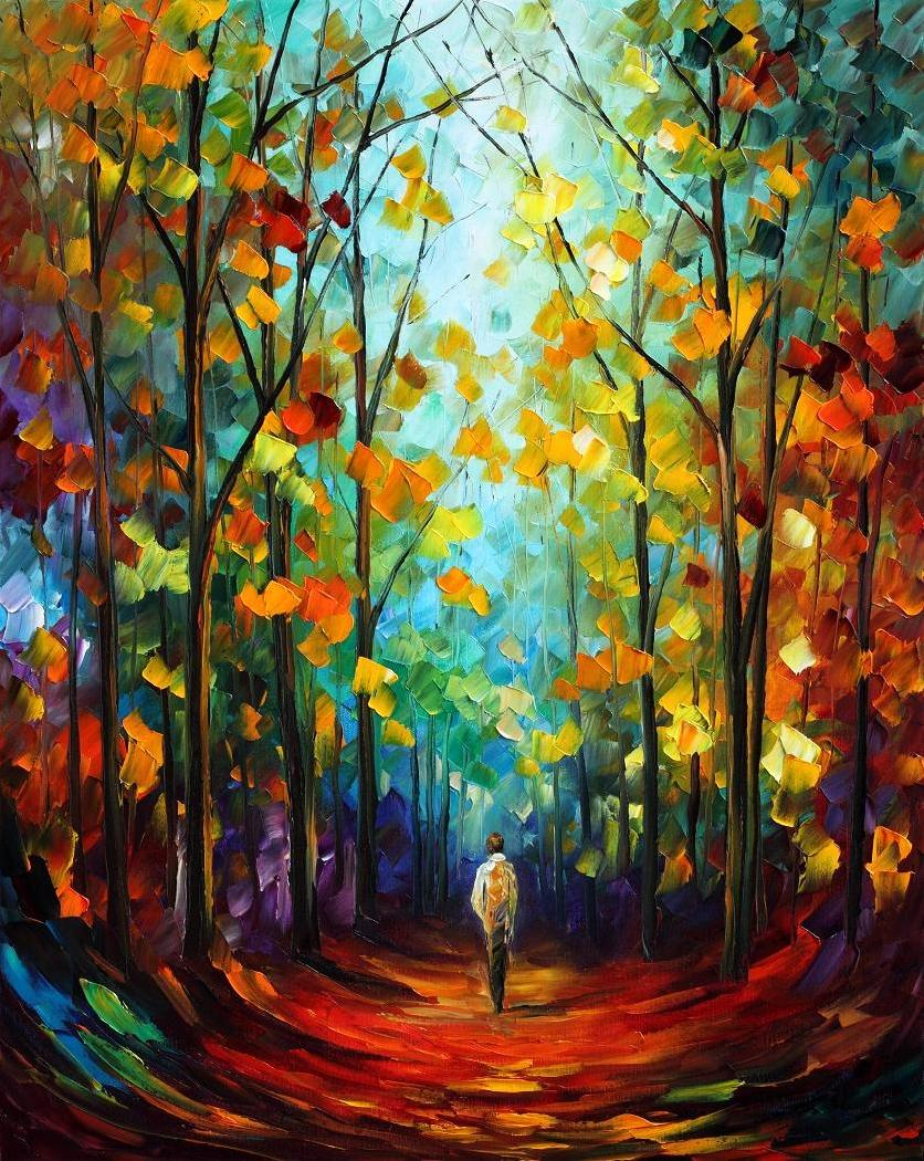 Morning Mood by Leonid Afremov by Leonidafremov