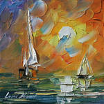 A date with the sunset by Leonid Afremov