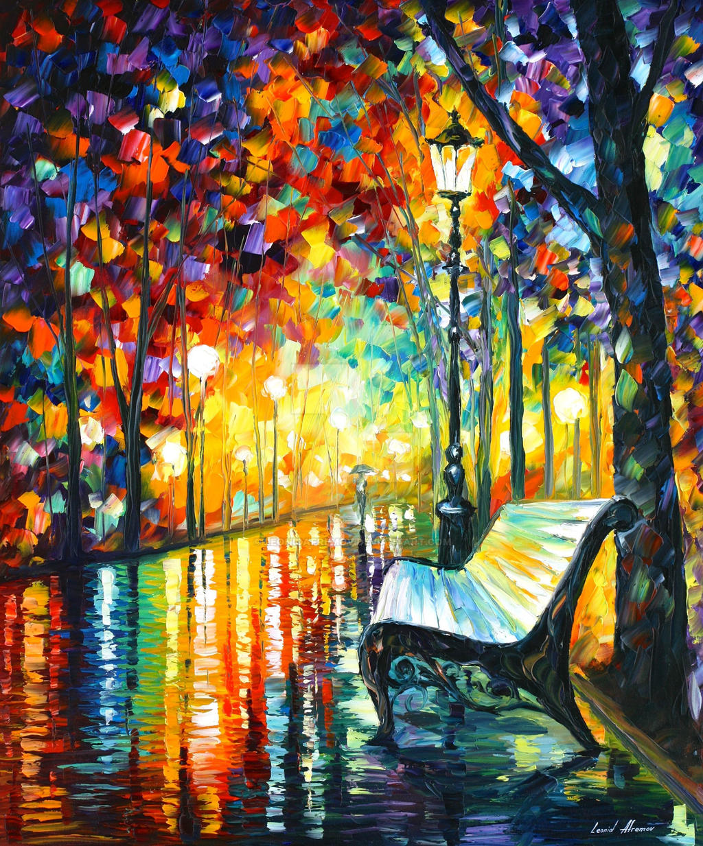 She Left by Leonid Afremov by Leonidafremov
