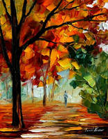 Alley by Leonid Afremov by Leonidafremov