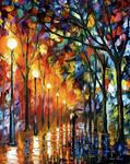 Stroll under the rain by Leonid Afremov