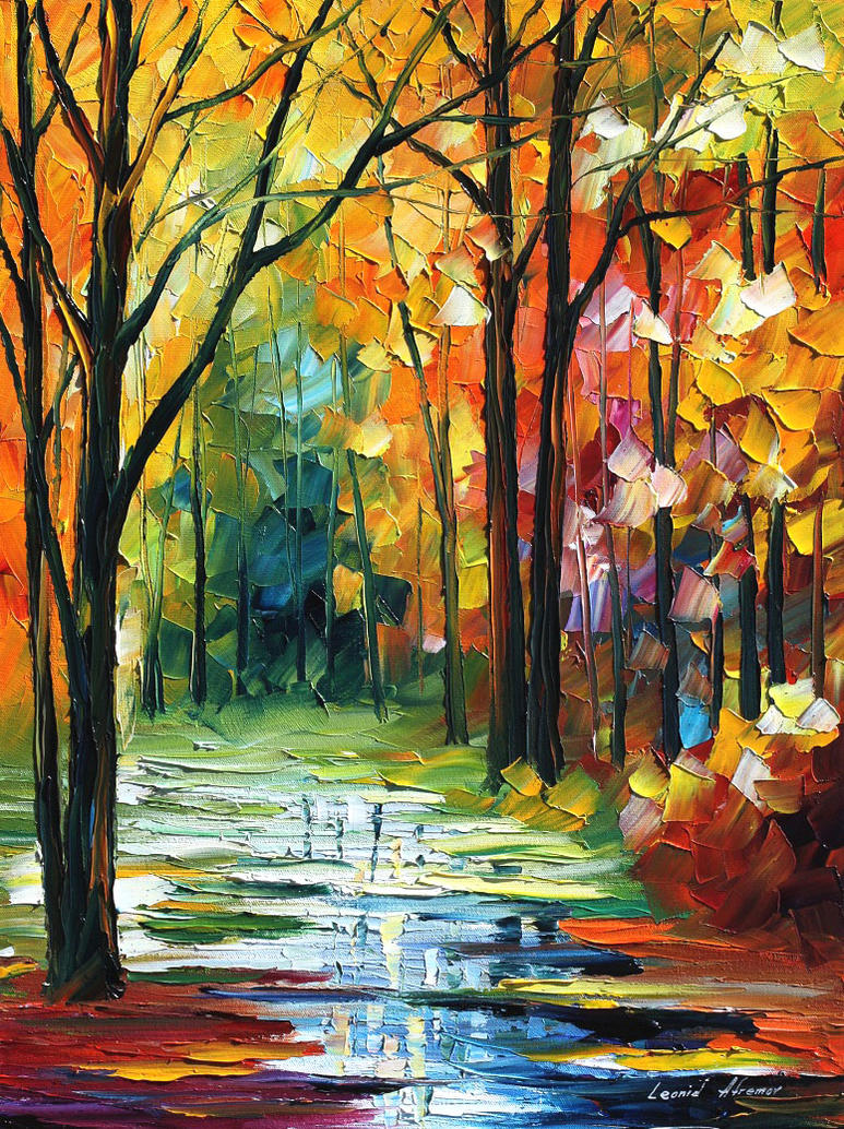 Late fall oil painting on canvas by L.Afremov by Leonidafremov