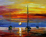 New sunset by Leonid Afremov