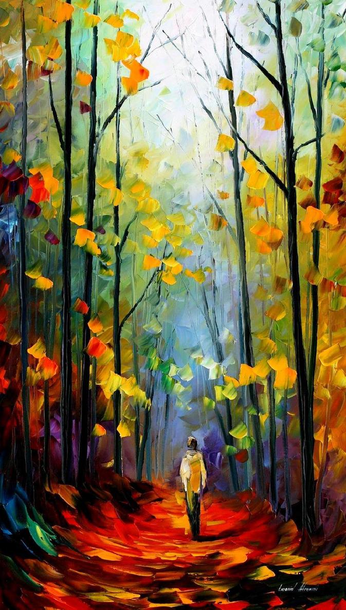 Morning mood 2 by Leonid Afremov by Leonidafremov