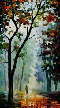 Golden path by Leonid Afremov