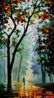 Golden path by Leonid Afremov by Leonidafremov