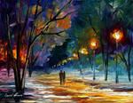 Winter night by Leonid Afremov