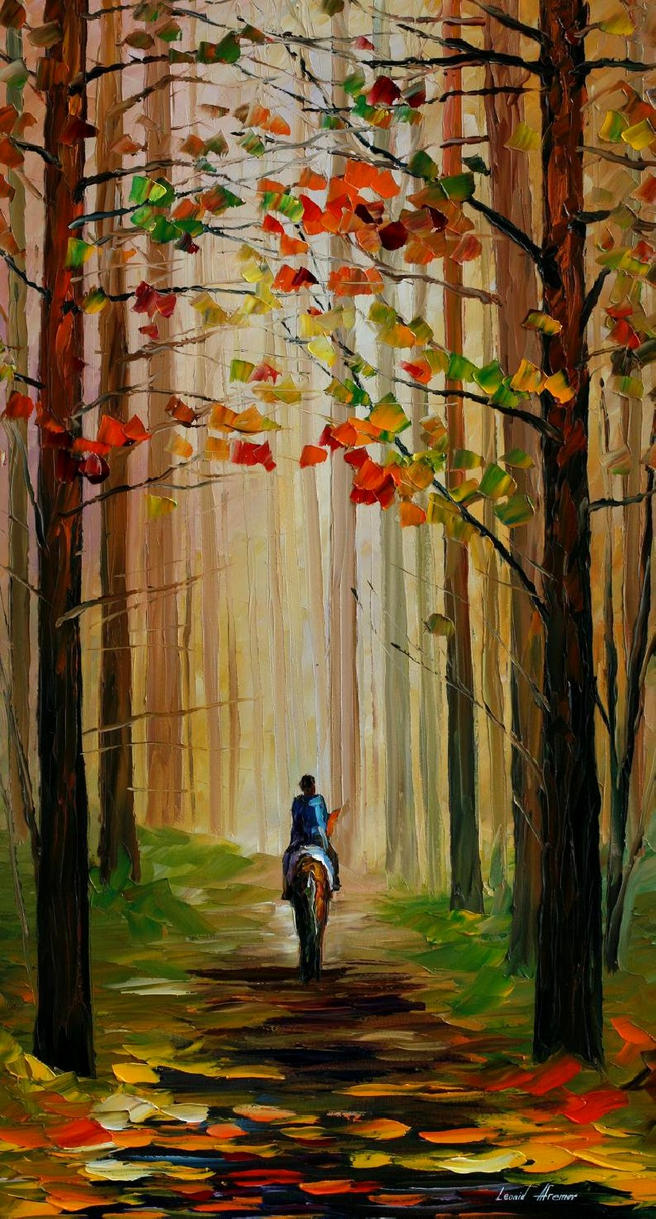 STROLL ON THE HORSE AFREMOV by Leonidafremov