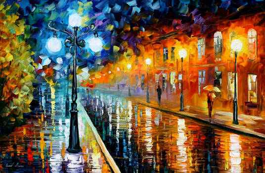 Blue Lights by Leonid Afremov