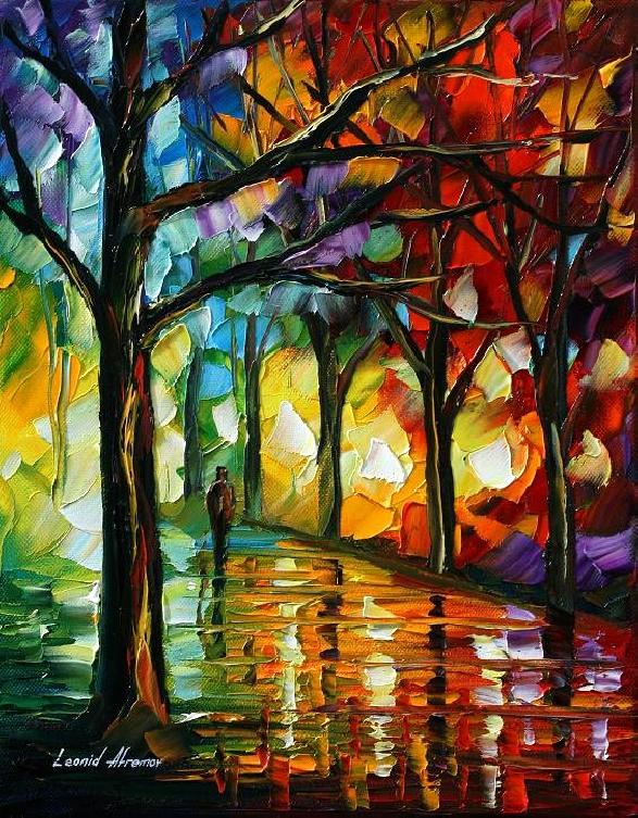 The soul of night by Leonid Afremov by Leonidafremov