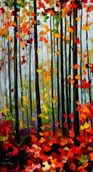 Falling leaves by Leonid Afremov
