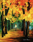 Fall forest by Leonid Afremov
