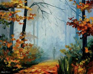 Foggy Morning by Leonid Afremov by Leonidafremov