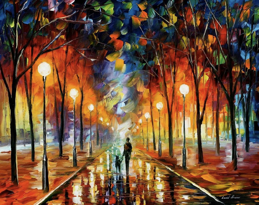 Friendship by Leonid Afremov by Leonidafremov