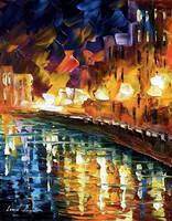 River by Leonid Afremov by Leonidafremov