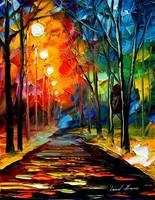 Night mood by Leonid Afremov by Leonidafremov