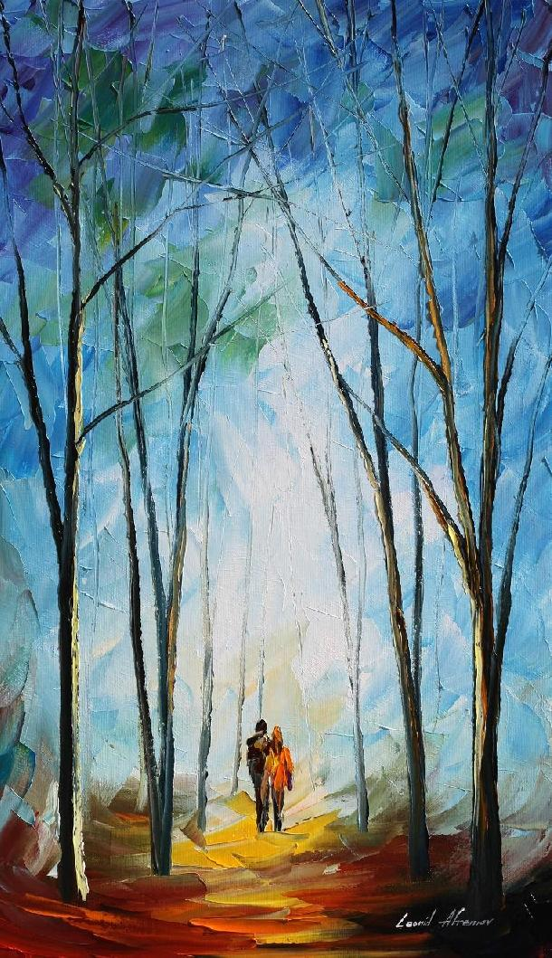 FOGGY DATE - L. AFREMOV by Leonidafremov