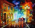 Wall of rain by Leonid Afremov