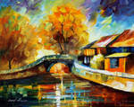 European smile by Leonid Afremov