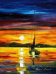 Before sun goes sleep by Leonid Afremov