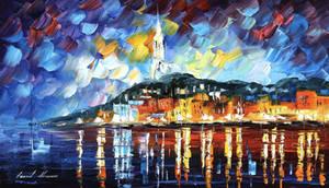 Harbor by Leonid Afremov