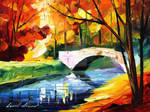 Fall bridge 3 by Leonid Afremov