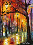 Blues of night by Leonid Afremov
