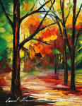 Noon in the forest by Leonid Afremov
