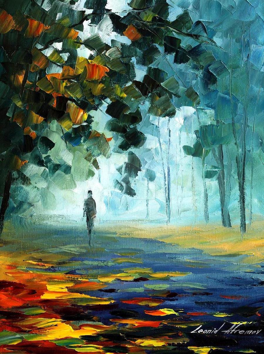 Winter silence by Leonid Afremov by Leonidafremov