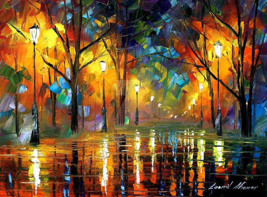 Soul of night by Leonid Afremov by Leonidafremov