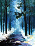 Winter Forest by Leonid Afremov
