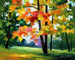 Gold of fall by Leonid Afremov