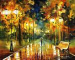 Autumn stroll by Leonid Afremov