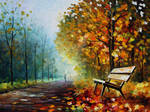 Autumn park by Leonid Afremov