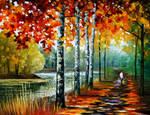 By the lake by Leonid Afremov