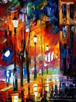 When city sleeps by Leonid Afremov