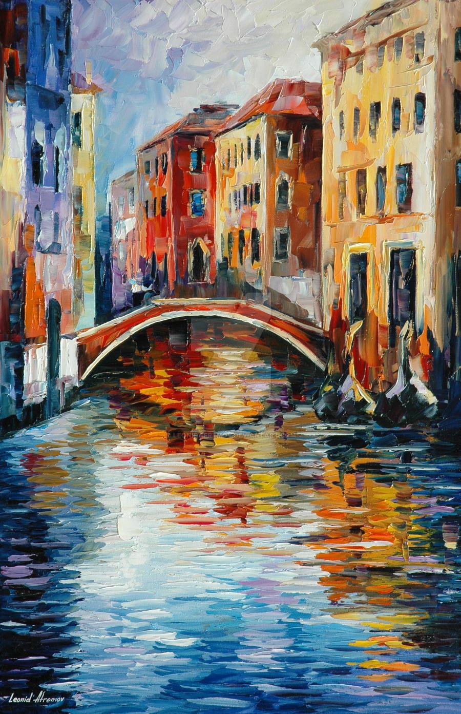 Venice by Leonid Afremov by Leonidafremov