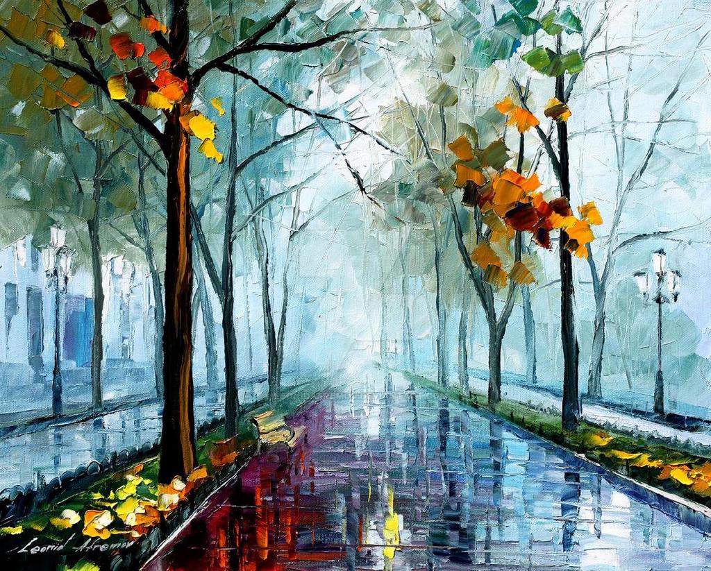 Rainy Day by Leonid Afremov
