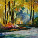 Morning stream by Leonid Afremov