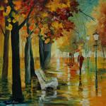 Autumn's kiss by Leonid Afremov