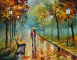 Autumn leaves by Leonid Afremov