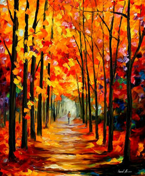 Red Alley by Leonid Afremov