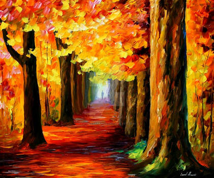 Mistery alley by Leonid Afremov