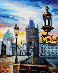 EVENING IN PRAGUE by Leonid Afremov