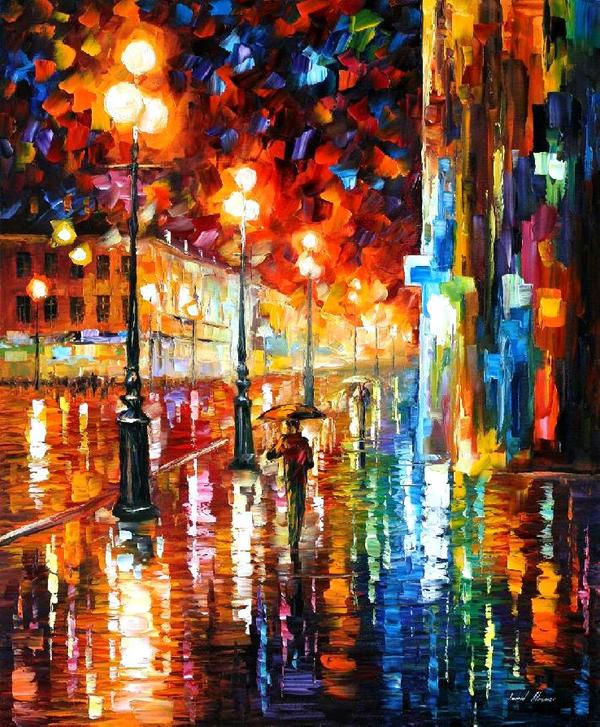 Tempo Of The Rain by Leonid Afremov by Leonidafremov