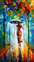 Running Towards Love by Leonid Afremov