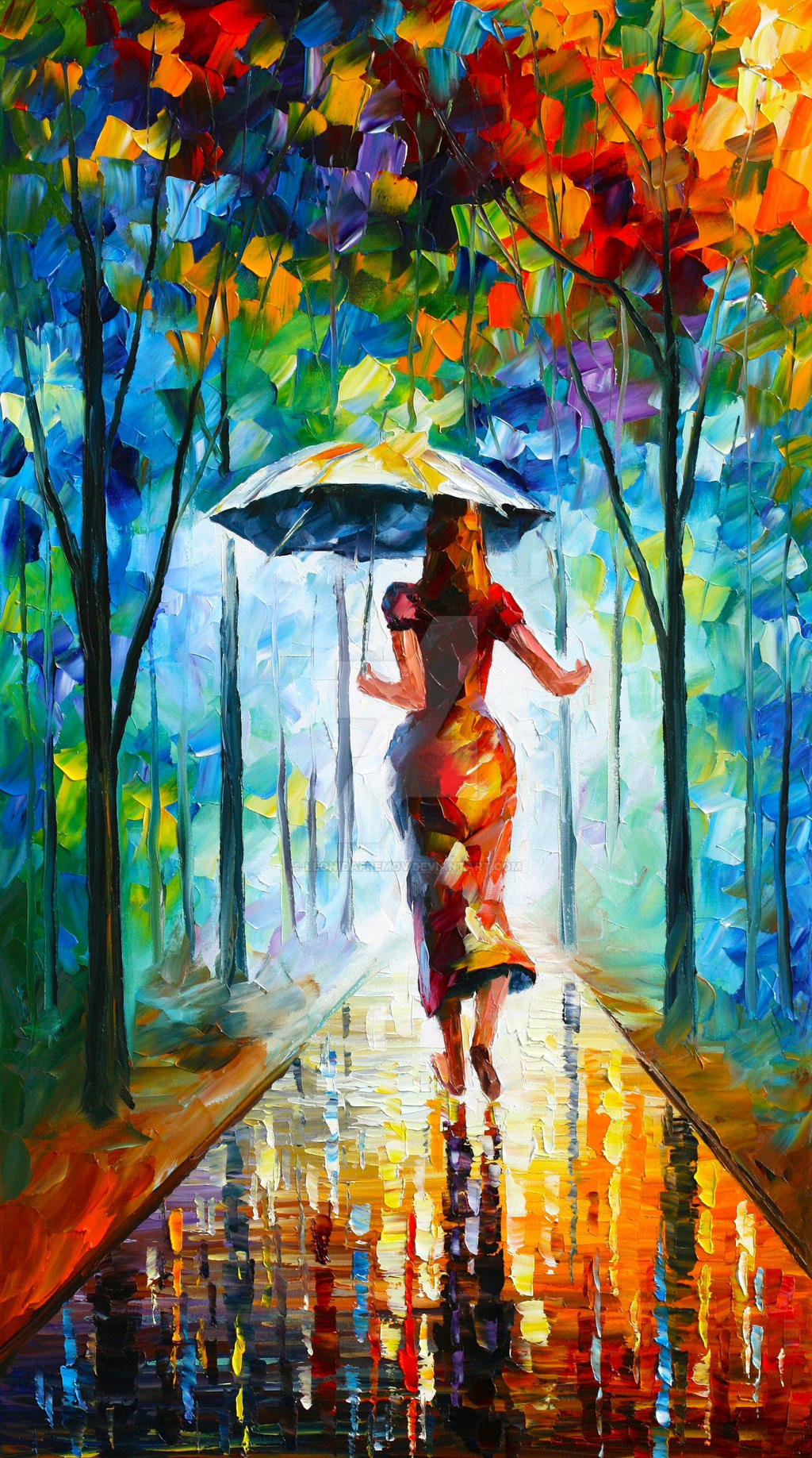 Running Towards Love by Leonid Afremov by Leonidafremov